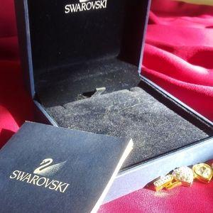 Swarovski Jewelry - New Swarovski Gold Pave jewelry set